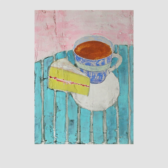 Afternoon Tea - Encaustic painting by Barry McCullough
