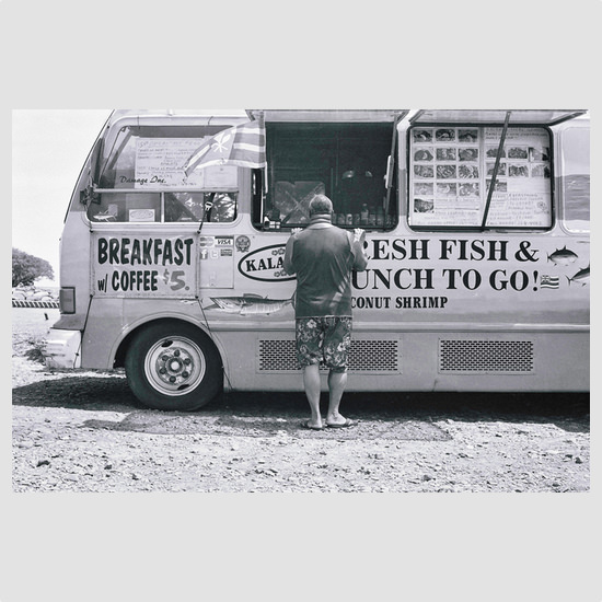Photograph Food Truck Maui, Hawaii - Photograph by Barry McCullough